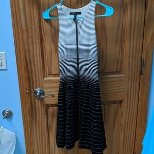 Striped B+W Flair Dress